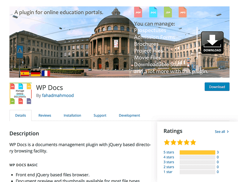 WP Docs plugin