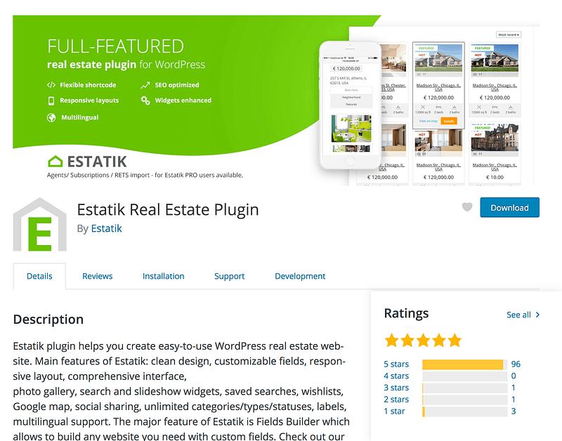 Estatik Real Estate Plugin