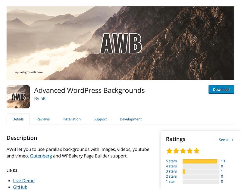 Advanced WordPress Backgrounds