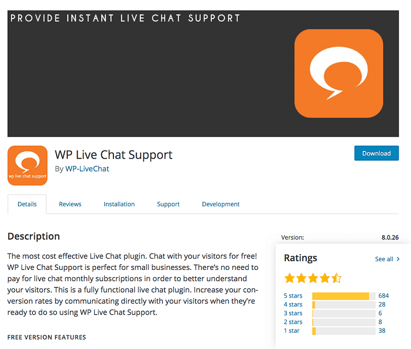 WP Live Chat Support plugin