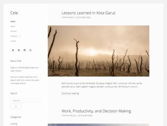 Cele WordPress theme