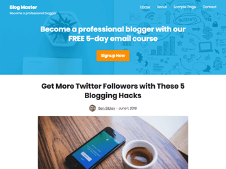 Challenger WordPress theme