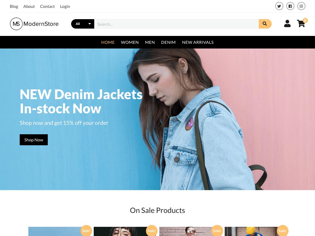 Modern Store WordPress theme