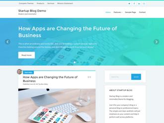 Startup Blog WordPress theme