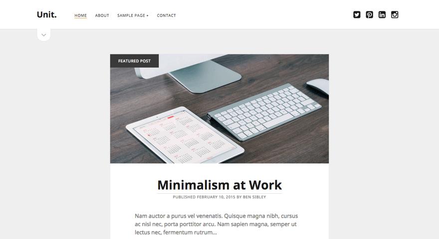 Unit WordPress theme