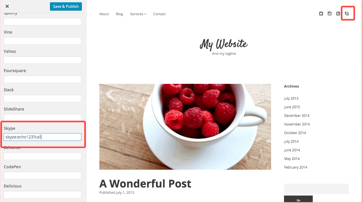 How to Add Skype Links to WordPress
